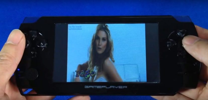 32 Bit 4.3 Inch Handheld Game Player with joysticks