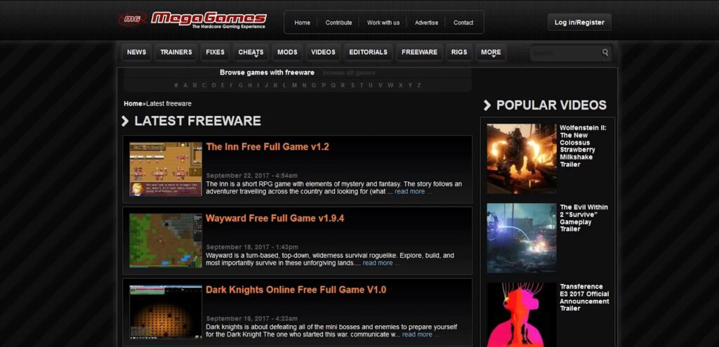 Free PC Video Games Downloads Site