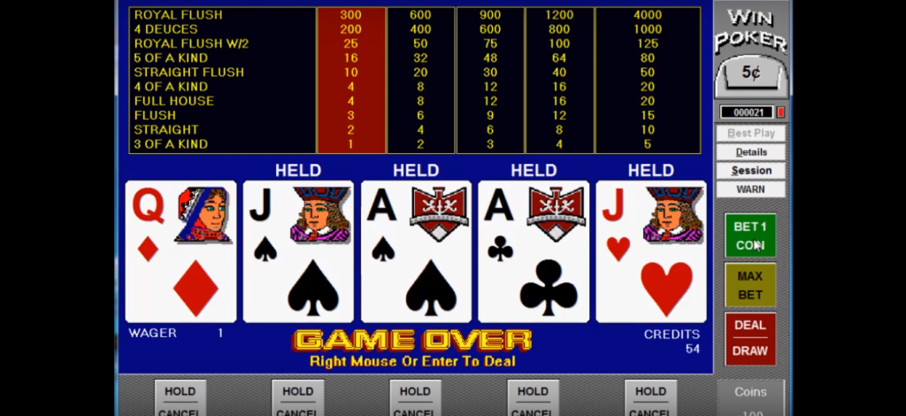 Playing Video Poker; Video Game Hot News
