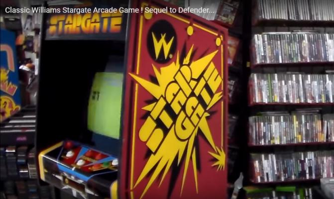 Classic Williams Stargate Arcade Video Game; Video Game Hot News