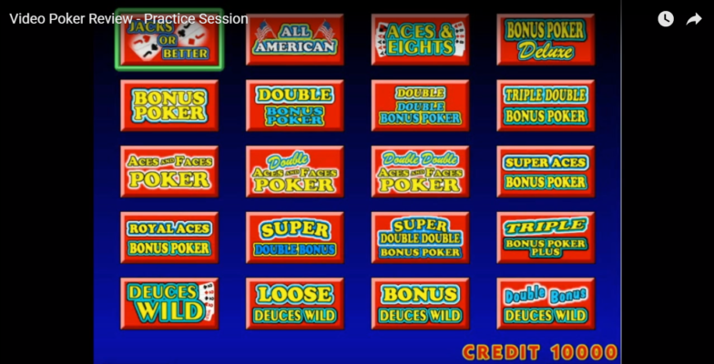 Video Poker Review - Practice Session; Video Game Hot News